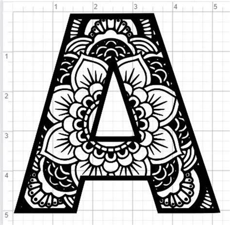 Kleurplaat Mandala Letter D by Mandala Alphabet Letter A Design Svg Pdf Eps Dxf Studio