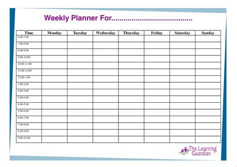 Free Weekly Planner Template 6 Printable Weekly Planner Template Memo Formats