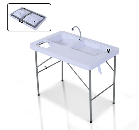 Coleman Portable Water Sink by Portable Folding Fish Cleaning Cutting Table Outdoor