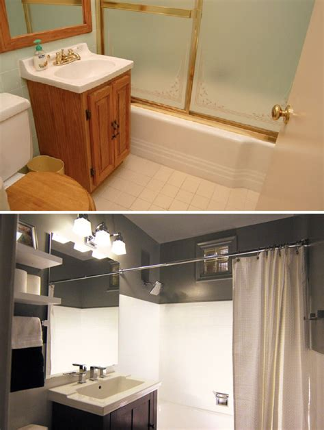 Before And After Small Bathrooms by A Small Bathroom Makeover Before And After
