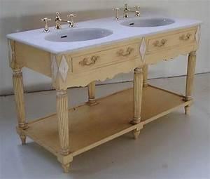 meuble double lavabo salle bain bruges teck modele orient With meuble de salle de bain avec dessus en marbre