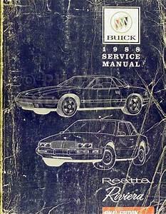 1988 Buick Riviera And Reatta Original Shop Manual Repair Service Book