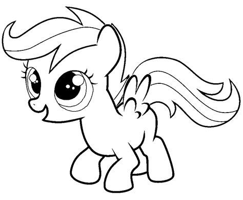 My Little Pony Sweetie Belle Coloring Pages