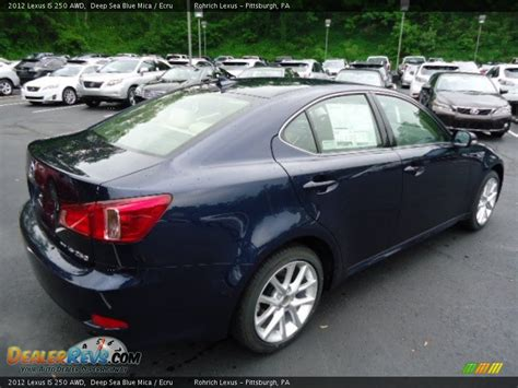 Lexus Is 250 Blue by 2012 Lexus Is 250 Awd Sea Blue Mica Ecru Photo 4