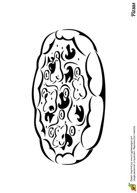 coloriage pizza pate epaisse sur hugolescargotcom