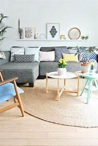 83 photos comment amenager un petit salon coussin With tapis chambre bébé avec canapé beige clair