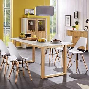 Dänisches Design Möbel : esstisch hanstholm 190x90 eiche wei esszimmerm bel k chenm bel m bel d nisches ~ Frokenaadalensverden.com Haus und Dekorationen