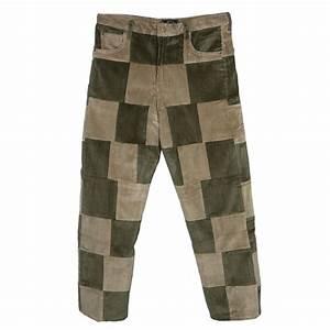 Corduroy Patchwork Pants