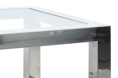table bout de canapé en verre design table basse bout de canapé acier inox et verre