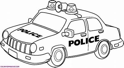 Police Coloring Pages Cars Printable