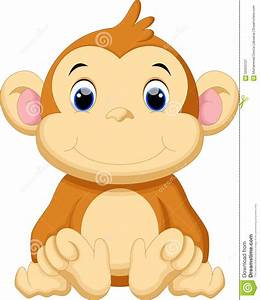 Cartoon Cute Baby Monkey | www.pixshark.com - Images ...