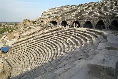 Side Th Antik Tiyatrosu Wikipedia Aspendos Ruine