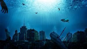 Abandoned Buildings Cityscapes Fantasy Art Sharks Shi
