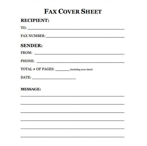 fax cover sheet download free fax cover sheet