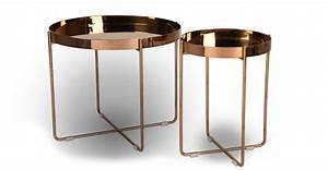 Table Basse Cuivre Rose : table en cuivre table d 39 appoint en cuivre tribeca cr er une table avec des tuyaux de cuivre ~ Melissatoandfro.com Idées de Décoration