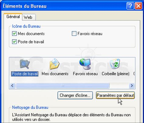 comment remettre la corbeille sur le bureau windows vista interael1
