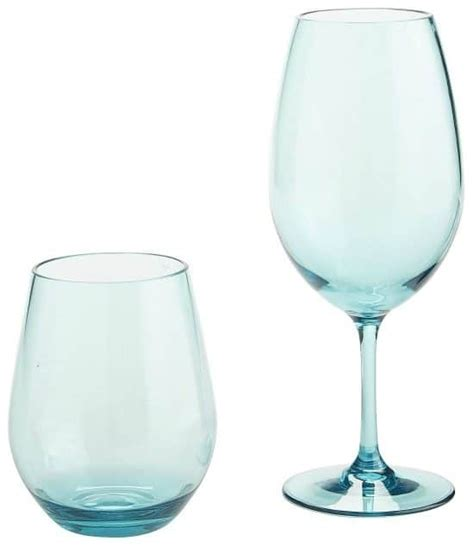 pottery barn bar beautiful blue drinkware in hues bliss living