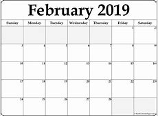 February 2019 free printable blank calendar collection