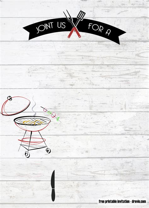printable bbq birthday invitation templates