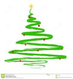 painted christmas tree illustration stock vector image 6347627