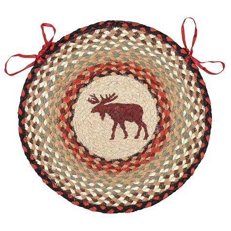 moose braided jute chair pad