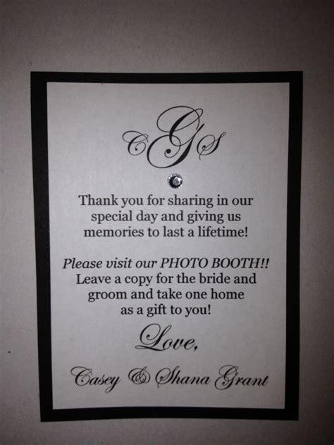wedding photo booth favor poem winter weddings