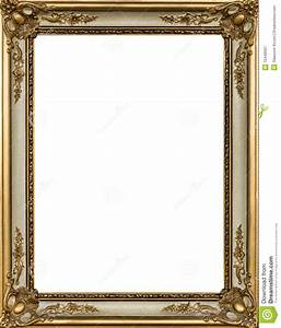 Decorative Gold Picture Frame Royalty Free Stock ...