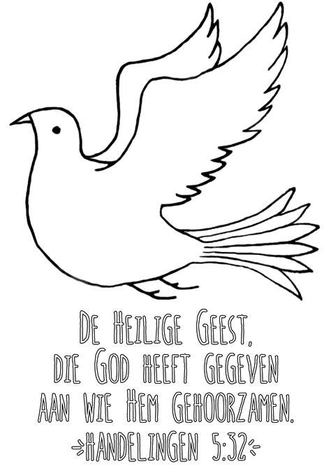 Vredesduif Kleurplaat by Tekening Duif