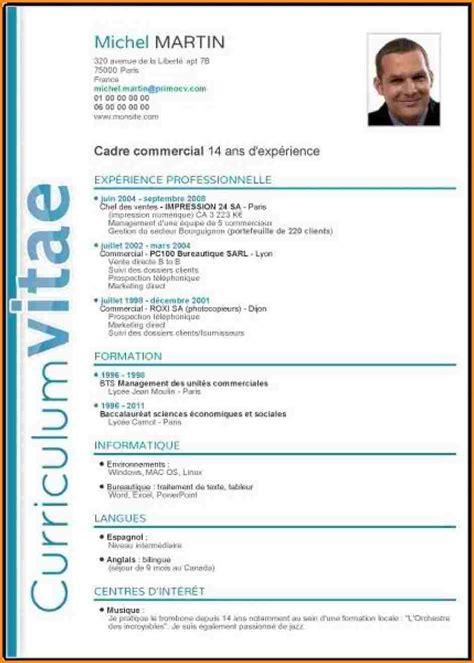 Modele De Cv En Francais Word by Cv Fran 231 Ais Exemple Cv En Francais Word Lusocarrelage