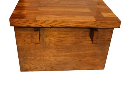 Solid tops and glass tops. Mid Century Modern Lane Brutalist Oak Coffee Table