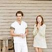 Emily and Luke Grimes on set of Shangri-la Suite | Emily ...