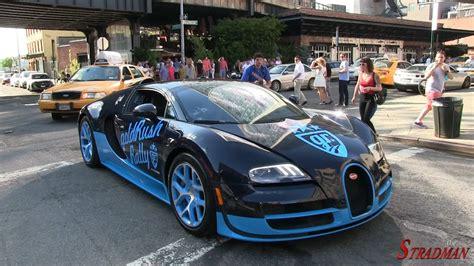 Bugatti Veyron Hp by 1200 Hp Bugatti Veyron Vitesse Driving In New York City