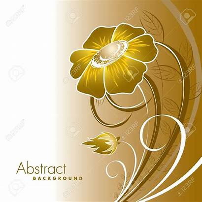 Gold Clipart Flowers Yellow Floral Background Abstract
