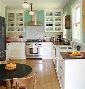 Farmhouse kitchen style in your home apartment therapy for Kitchen cabinets lowes with sf giants wall art