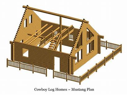 Log Mustang Square Feet Plan Shell Cabin