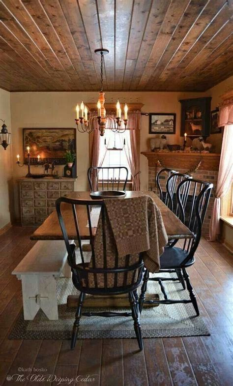 25+ Best Ideas About Primitive Dining Rooms On Pinterest