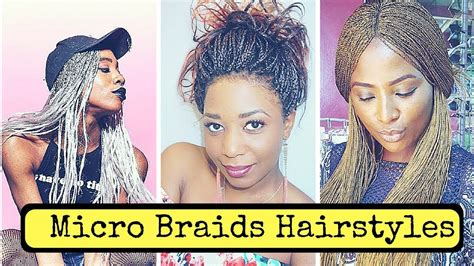 Micro Braids Hairstyles For Black Women