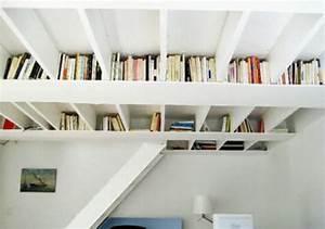 Regal Unter Der Decke : kreative ideen f r b cher aufbewahrung hausbibliothek design ~ Sanjose-hotels-ca.com Haus und Dekorationen