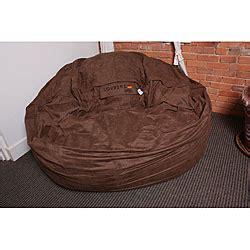 lovesac overstock lovesac supersac 6 earth brown microfiber foam lounge bag