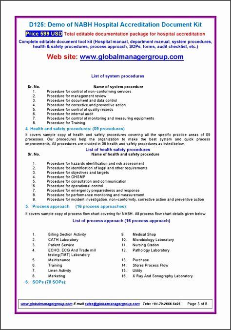 11 editable standard operating procedure template