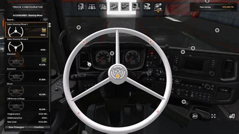 scania  gen vabis steering wheel  ets mods