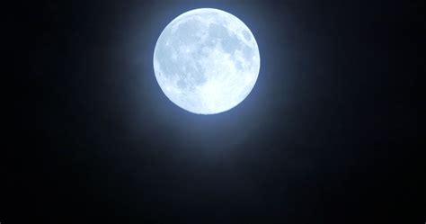 4k Full Moon Moving Across Night Sky Background