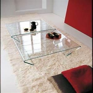 Table Basse Carrée Design : table basse design rectangulaire ou carr e en verre rubino sovet 4 ~ Teatrodelosmanantiales.com Idées de Décoration