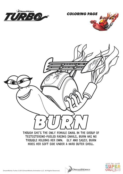 turbo coloring pages burn from turbo coloring page free printable coloring pages