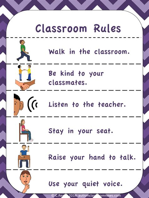 classroom rules template visual rules and expectations freebie autism classroom