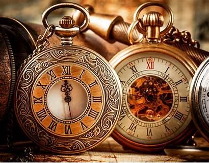 Antique Pocket Wallpapers Clock Antiques Hand Primitive