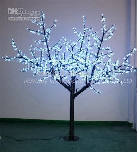 2m white led lighting branches with big cherry flowers for