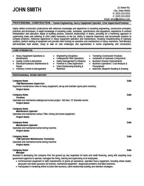 Maintenance Supervisor Resume Templates