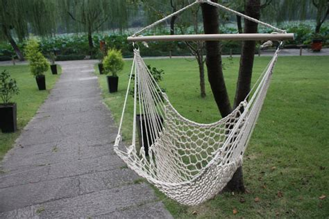 Cotton Hammock Chair by Outdoor Hanging Swing Cotton Hammock Chair Solid Rope Yard
