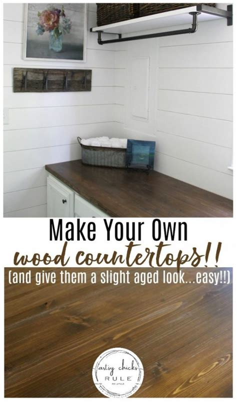 Easy Diy Countertops - how to make a diy wood countertop easier than you thought